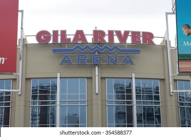 Phoenix, Arizona USA - December 19, 2015: ice hockey GILA RIVER ARENA in Phoenix, Arizona