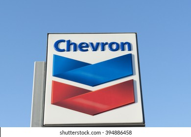 Phoenix, Arizona, USA - March 01, 2016: Chevron logo. Chevron Corporation is an American multinational energy corporation headquartered in San Ramon, California and active in more than 180 countries.