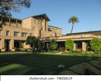 Phoenix, Arizona USA - March 7, 2012: The 1929 Arizona Biltmore hotel, often attributed to Frank Lloyd Wright, but designed by Albert Chase McArthur using Wright's textile block concept