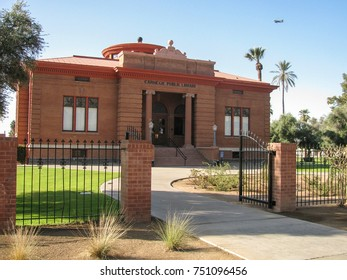 Phoenix, Arizona USA - March 9, 2012: The Carnegie Library on Washington Street, built in 1908. Now the Carnegie Center, administrative, museum and meeting space for the Arizona State Library.