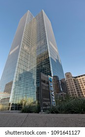 Phoenix, Arizona, USA - May 14, 2018: The Chase Tower in Phoenix, Arizona, is the tallest building in the state of Arizona. Built in 1972, it is 483 feet tall.