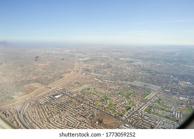 PHOENIX, ARIZONA / USA - NOVEMBER 8 2011: Red Mountain Freeway (AZ-202) and Fannin-McFarland Aqueduct.  Underpasses at East McDowell Rd and McKellips Rd.