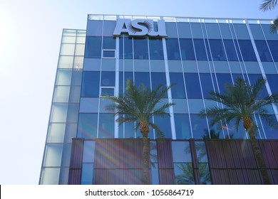 PHOENIX, AZ -23 FEB 2018- View of the campus of Arizona State University (ASU),  a public research university located in Phoenix, Arizona.