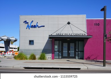 PHOENIX, AZ -23 FEB 2018- View of the Nash jazz club, the Jazz in AZ center located in Phoenix, Arizona.