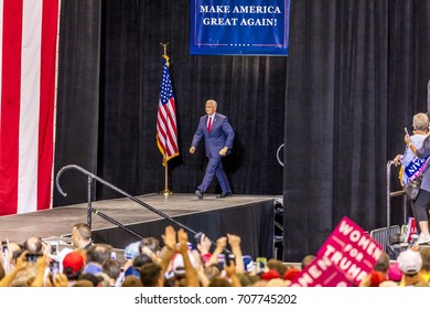 PHOENIX, AZ - AUGUST 22, 2017: U.S. Vice President Mike Pence and supporters at a rally by President Donald Trump at the Phoenix Convention Center during a 2020 Trump rally