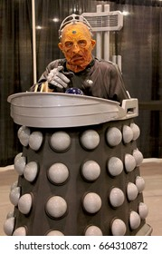 Phoenix, AZ May 28, 2017 A person cosplayer dressed up as 'Davros' from 'Doctor Who' at Phoenix Comic Con 2017.