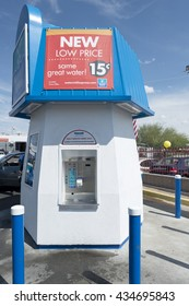 Phoenix, AZ, USA - May 14, 2016: Watermill Express station. Watermill Express is the largest drive-up pure drinking water company in the nation and the green alternative to prepackaged water.