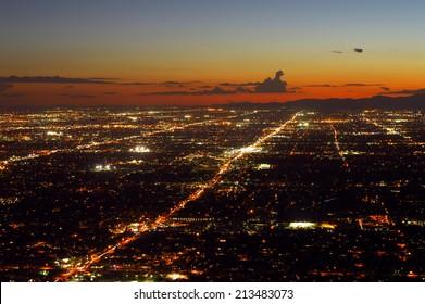 Phoenix city lights at dusk
