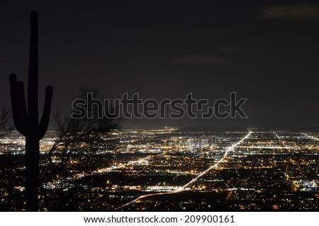 Phoenix city lights at