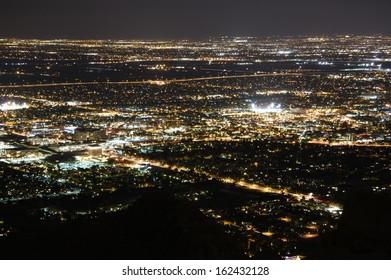 Phoenix city lights at night