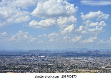 Phoenix city view on a fair weather day