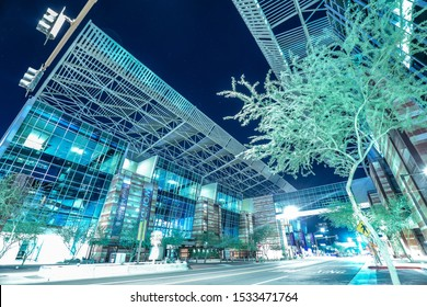 Phoenix Convention Center at night in downtown Phoenix Arizona. — Captured 10/7/2019.