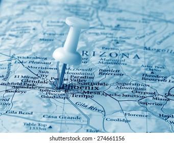 Phoenix destination in the map