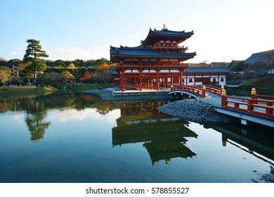 Phoenix Hall of Byodo-in Temple in Uji city near Kyoto. National Treasure of Japan and UNESCO world heritage site