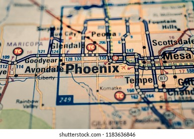 Phoenix on the map USA
