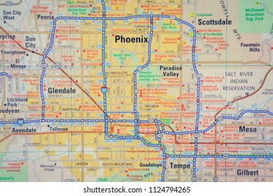 Phoenix on USA map
