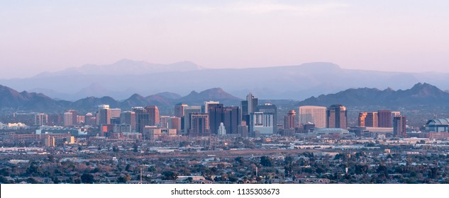 Phoenix Skyline at Sunset