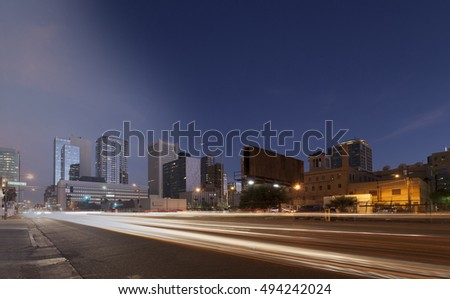 Phoenix Skyline sunset and twilight transition