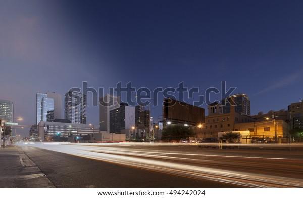 Phoenix Skyline sunset and twilight transition