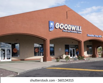 Phoenix, USA - January 08, 2015: building of Goodwill store and donation center in Phoenix.