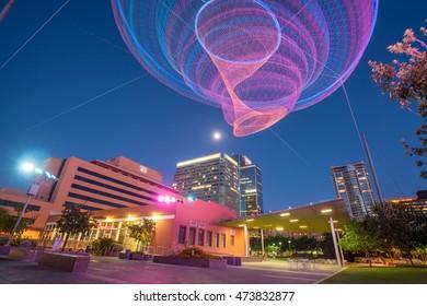 PHOENIX, USA - JULY 16: View of downtown center of Phoenix, Arizona USA on July 16, 2016.