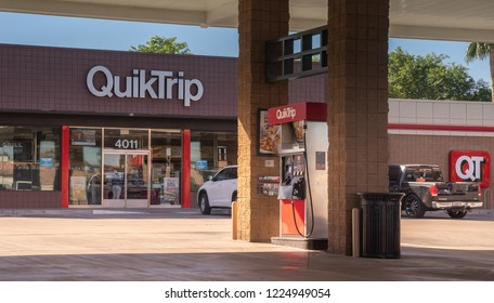 Phoenix,Az/USA - 11.6.18 QuikTrip QT, a headquartered in Oklahoma. Founded in 1958, has grown to a more than $11 billion company with 750+stores in 11 states in the US.