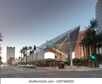 Phoenix,Az/USA - 6.26.19 -  Arizona Center in downtown Phoenix,  the $25 million face-lift project that is owned and managed by Parallel Capital Partners, has been completed.