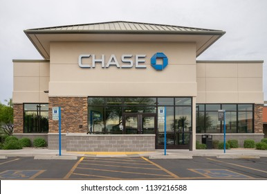 Phoenix,Az/USA-7.20.18: JPMorgan Chase, through its Chase subsidiary, is one of the Big Four banks of the United States.