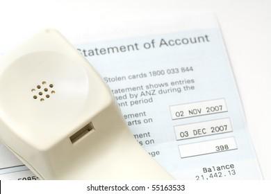 phone bill statement of accounts