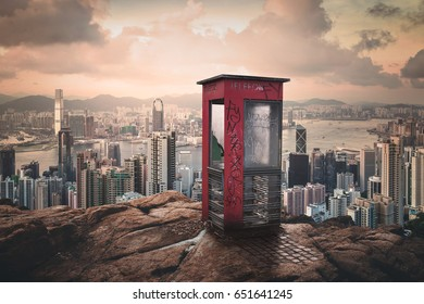 phone booth on the rocks hill