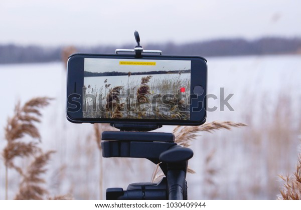 Phone filming a time lapse