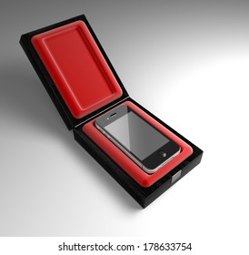 phone in a gift box