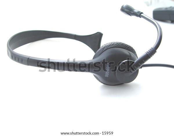 Phone Headset isolated on white background