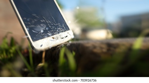 Phone hitting the stone