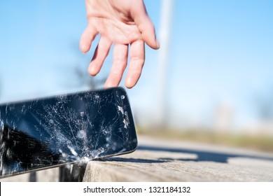 Phone hitting the street