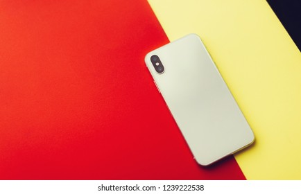 Phone on a color background