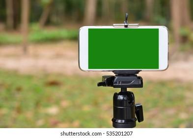 Phone on a tripod
