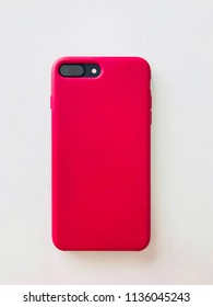 Phone is in a red cover