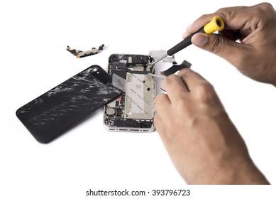 Phone Repair  on white background