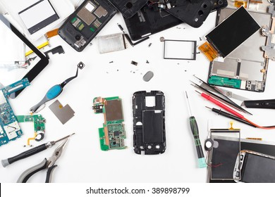 phone repair plan view of a light background