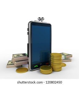 phone as a wallet with money