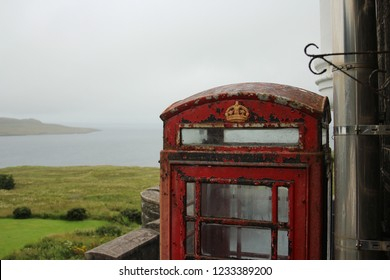 Phonebooth in Scottish Countryside