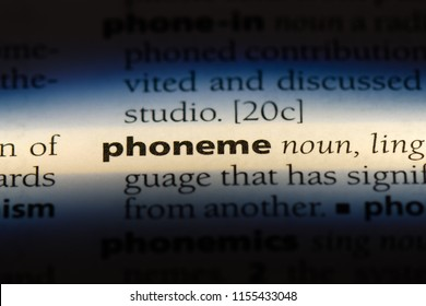 phoneme word in a dictionary. phoneme concept.