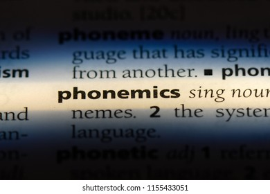 phonemics word in a dictionary. phonemics concept.