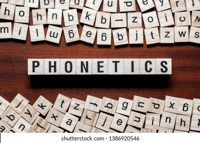 Phonetics word concept on cubes