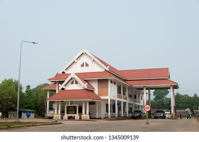 Phongsaly, Laos - Mar 18 2019- PANG HOK IMMIGRATION is a major border crossing between Laos and Vietnam.