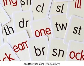 Phonics spelling cards - language teaching aid