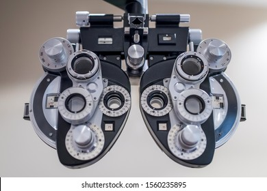 A Phoropter device, for sight correction.