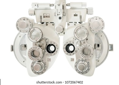 Phoropter, ophthalmic testing device machine,close up