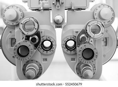 Phoropter, ophthalmic testing device machine,optometrist tool.